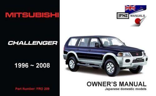 mitsubishi challenger owners manual pdf