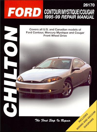 Ford Contour, Mercury Mystique, Cougar 1995 - 1999 - Front Cover