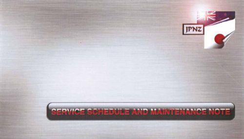 Toyota Harrier 2003 - On Service Schedule And Maintenance Note - Front Cover
