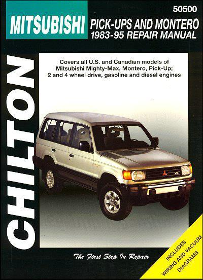 Mitsubishi Pick Up & Montero 1983 - 1995 Chilton Owners Service & Repair Manual - Front Cover