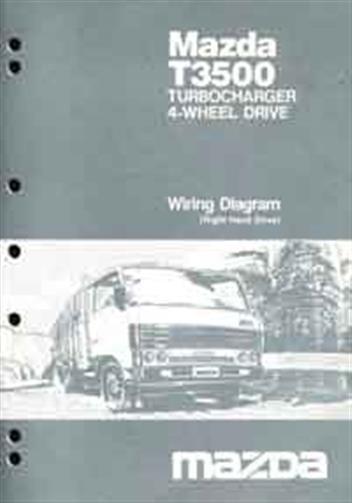 Mazda T Series 1987 Factory    Wiring       Diagram    Manual    T3500     Turbocharger  4 Wheel Drive Mazda Motor