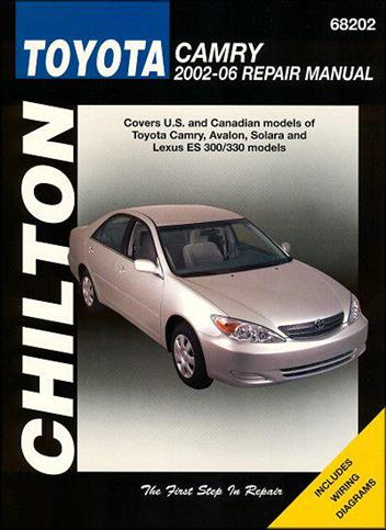 toyota camry 2002 2006 chilton owners service repair manual 156392797. Black Bedroom Furniture Sets. Home Design Ideas