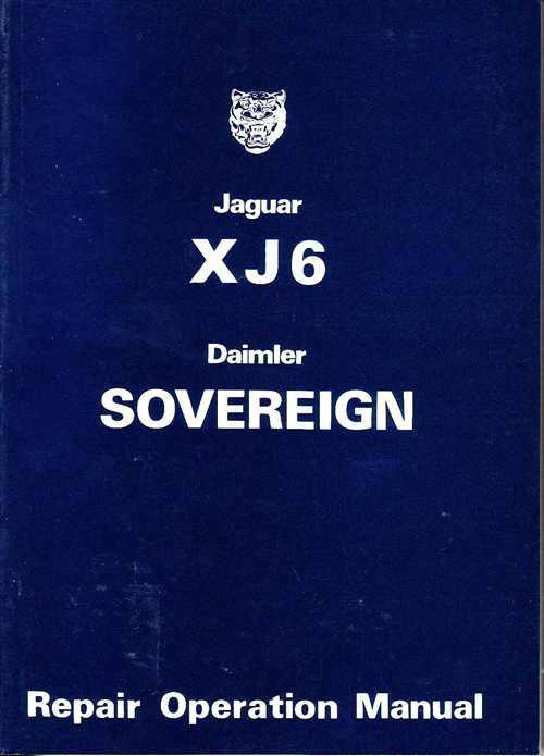 Jaguar XJ6 3.4 & 4.2 Daimler Sovereign Series 2 Repair Operation Manual - Front Cover