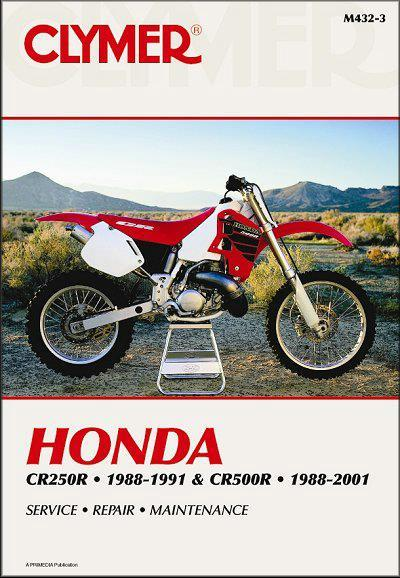 Honda CR250R & CR500R 1988 - 2001 Clymer Owners Service & Repair Manual