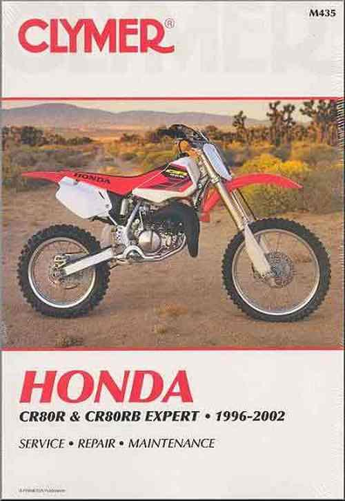 Honda CR80R & CR80RB Expert 1996 - 2002 Clymer Owners Service & Repair Manual