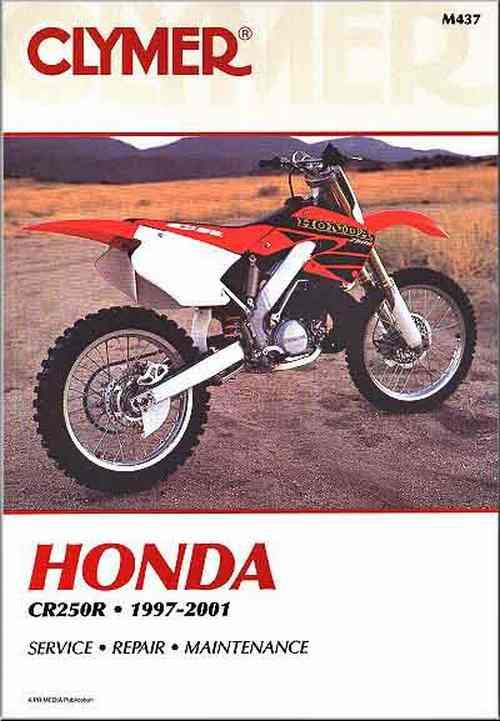 Honda CR250R 1997 - 2001 Clymer Owners Service & Repair Manual