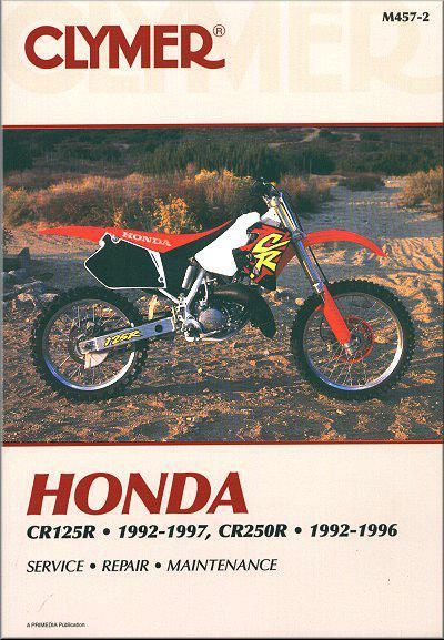 Honda CR125R & CR250R 1992 - 1997 Clymer Owners Service & Repair Manual