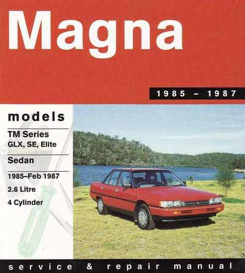 Mitsubishi Magna (TM) 1985 - 1987 Service & Repair Manual - Front Cover