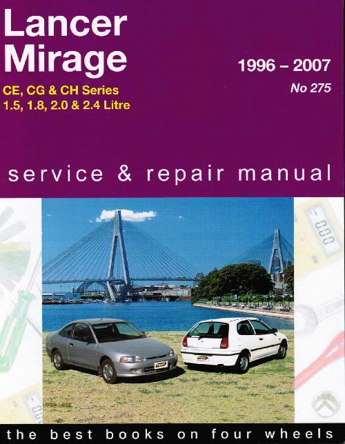 Mitsubishi Lancer & Mirage CE, CG & CH Series 1996 - 2007 Gregorys Owners - Front Cover