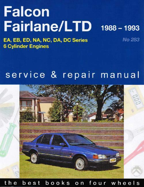 Ford Falcon / Fairlane / LTD 1988 - 1995 Gregorys Owners Service & Repair Manual - Front Cover