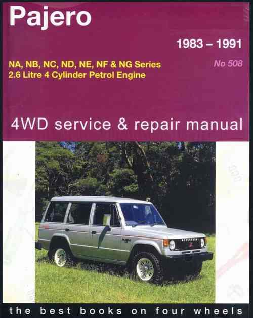 Mitsubishi Pajero 4WD Petrol 1983 - 1991 Gregorys Owners Service & Repair Manual - Front Cover