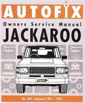 holden jackaroo workshop manual free