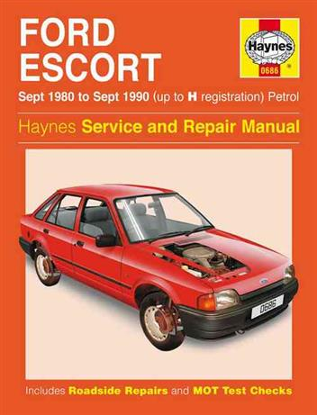 ford escort petrol 1980 1990 haynes owners service. Black Bedroom Furniture Sets. Home Design Ideas
