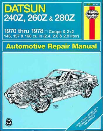 datsun 240z 260z 280z 1970 1978 haynes owners service repair manual 0856962066. Black Bedroom Furniture Sets. Home Design Ideas