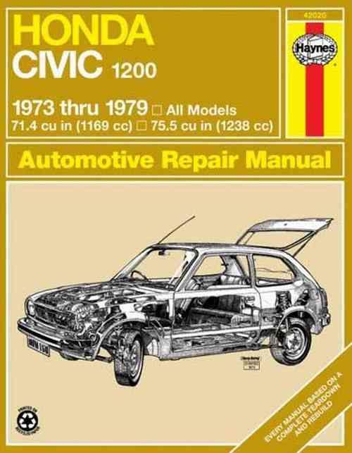 Honda Civic 1200 1973 - 1979 Haynes Owners Service & Repair Manual - Front Cover