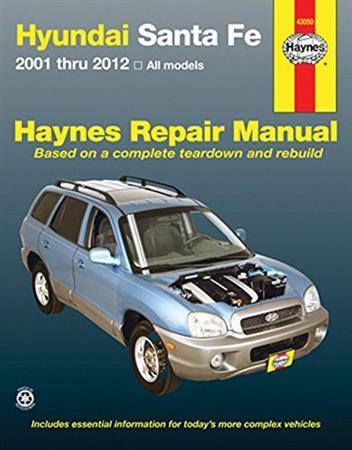 Hyundai Santa Fe 2001 2012 Haynes Owners Service