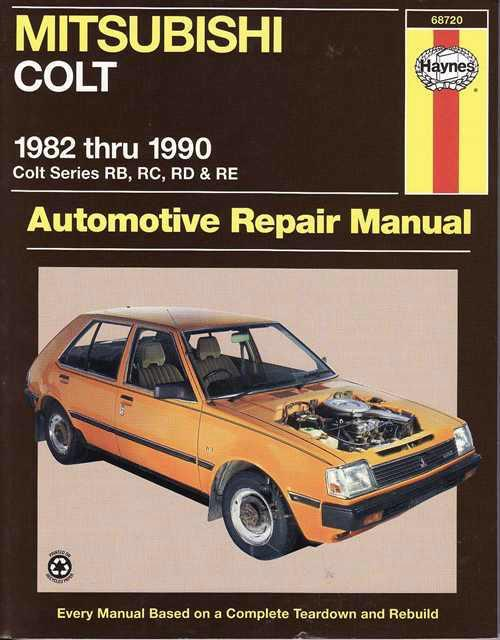 Mitsubishi Colt (RB, RC, RD & RE) 1982 - 1990 - Front Cover