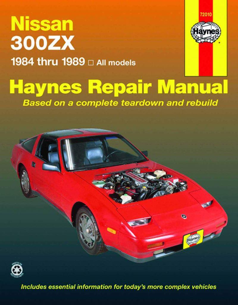 Nissan 300ZX Turbo & Non-Turbo models 1984 - 1989 - Front Cover