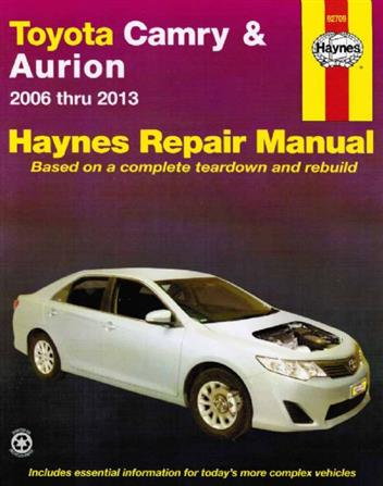 toyota camry aurion 2006 2013 haynes owners service. Black Bedroom Furniture Sets. Home Design Ideas