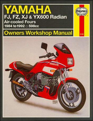 yamaha fj fz xj yx600 radian 1984 1992 haynes owners. Black Bedroom Furniture Sets. Home Design Ideas