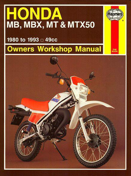 Honda MB, MBX, MT & MTX50 1980 - 1993 Haynes Owners Service & Repair Manual