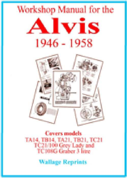 Workshop Manual For The Alvis 1946