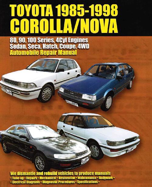 Toyota Corolla  Holden Nova Sedan  Seca  U0026 Hatch 1985
