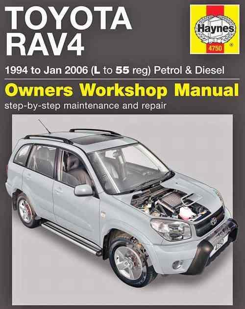 toyota rav4 petrol diesel 1994 2006 haynes owners. Black Bedroom Furniture Sets. Home Design Ideas