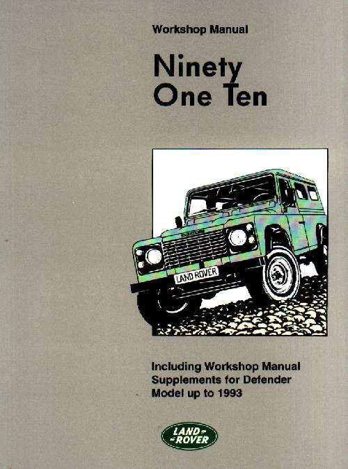 land rover defender workshop manual land rover defender workshop manual