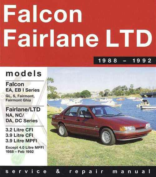 ford falcon fairlane 1988 1992 gregorys service repair. Black Bedroom Furniture Sets. Home Design Ideas