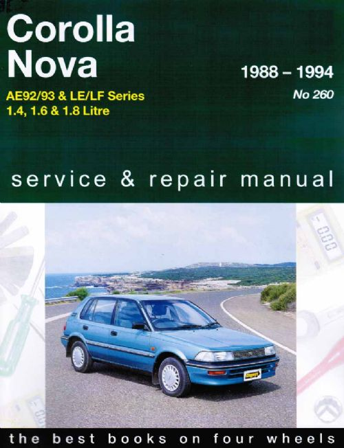 1990 Toyota Corolla Electrical Wiring Diagram Manual