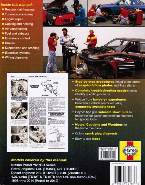 nissan patrol gu workshop manual