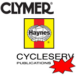 Haynes, Clymer and Cycleserv motorcycle repair manuals