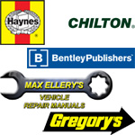 Haynes, Gregorys, Robert Bentley, Chiltons, Max Ellery repair manuals