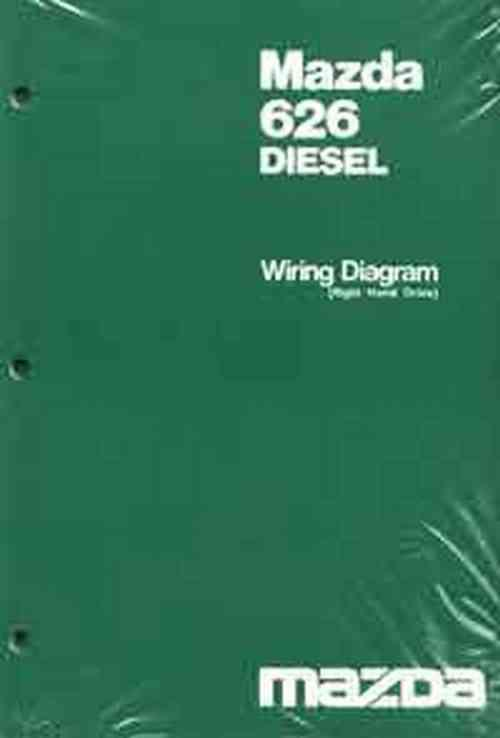 Mazda 626 Diesel Wiring Diagram 1983 - Front Cover