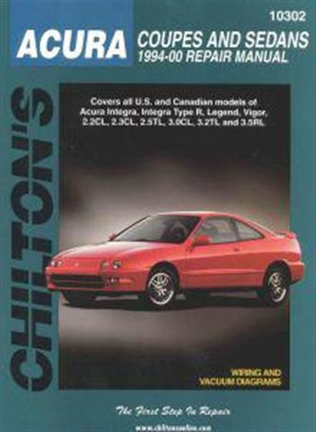 Honda (Acura) Integra, Integra Type R & Legend 1994 - 2000 Repair Manual - Front Cover
