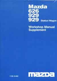 Mazda 626 1985 Turbo & Station Wagon Workshop Manual Supplement - Front Cover