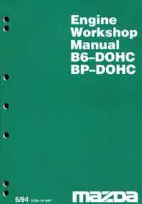 Mazda 323 & Astina BA 06/1994 Factory Engine Workshop Manual Supplement - Front Cover