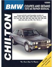 BMW Coupes & Sedans 1970 - 1988 Chilton Owners Service & Repair Manual