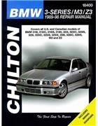 BMW 3-Series / M3 / Z3 1989 - 1998 Chilton Owners Service & Repair Manual - Front Cover