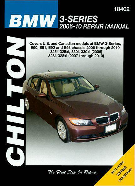 BMW 3 Series 2006 - 2010 Chilton Owners Service & Repair Manual - Front Cover