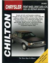 Chrysler Front Wheel Drive Cars - 4 Cyl 1981 - 1995