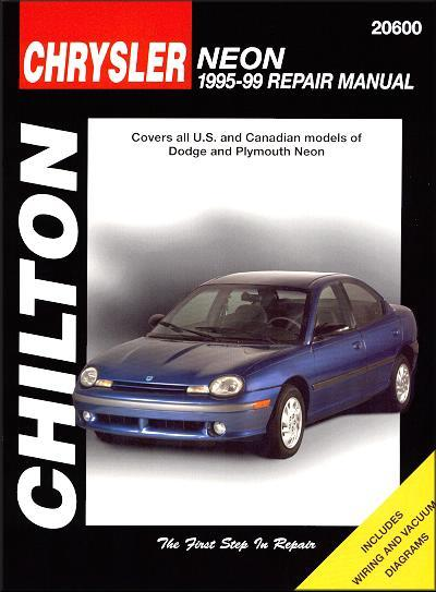 Dodge, Plymouth Neon 1995 - 1999 Chilton Owners Service & Repair Manual - Front Cover