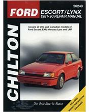 Ford Escort & Lynx 1981 - 1990 Chilton Owners Service & Repair Manual