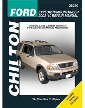 Ford Explorer / Mountaineer 2002 - 2010 Chilton Owners Service & Repair Manual