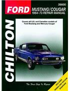 Ford Mustang & Mercury Cougar 1964 - 1973 Chilton Owners Service & Repair Manual