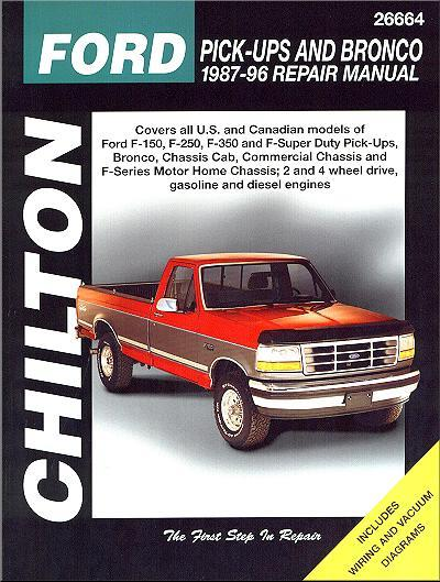 Ford Pick-Ups & Bronco 1987 - 1996 Chilton Owners Service & Repair Manual