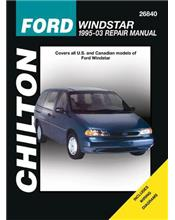Ford Windstar 1995 - 2003 Chilton Owners Service & Repair Manual