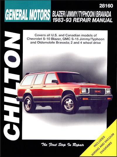 Chevrolet Blazer S-10, GMC Jimmy S-15, Typhoon, Olds Bravada 1983 - 1993 - Front Cover