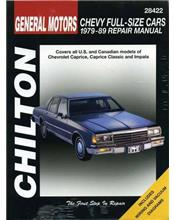 Chevrolet Full-Size Cars 1979 - 1989 Chilton Owners Service & Repair Manual